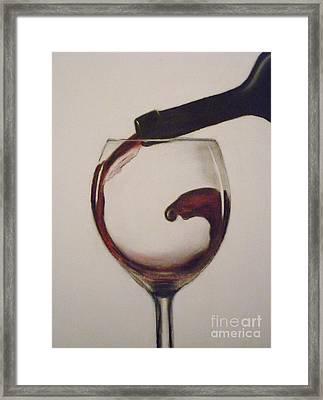 Make Mine A Red Wine Framed Print by Paul Horton