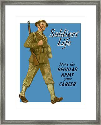 Make The Regular Army Your Career Framed Print by War Is Hell Store