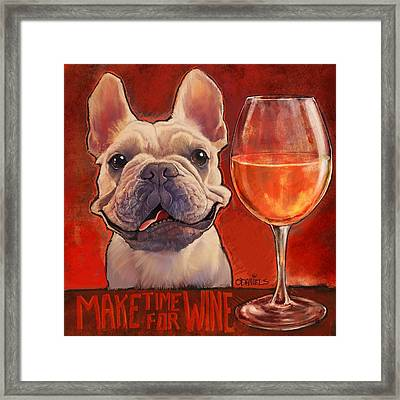 Make Time For Wine Framed Print by Sean ODaniels