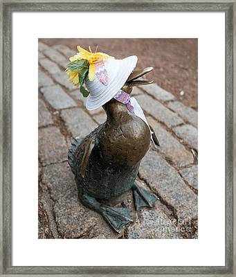 Make Way For Ducklings Framed Print by Edward Fielding