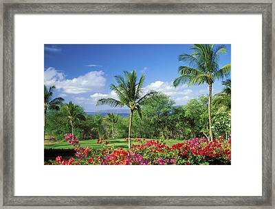 Makena Beach Golf Course Framed Print by Peter French - Printscapes