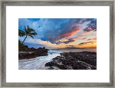 Makena Cove Sunset Framed Print by Thorsten Scheuermann
