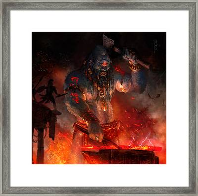 Maker Of The World Framed Print by Ryan Barger