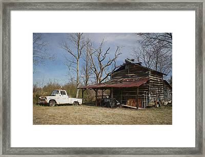 Makes Me Wanna Take A Back Road Framed Print by Benanne Stiens
