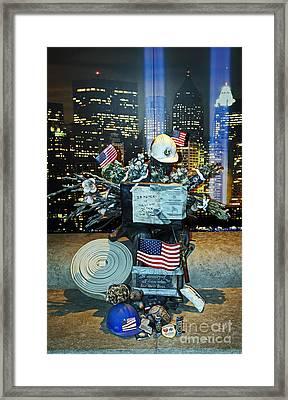 Makeshift Memorial Framed Print by Jennifer Robin