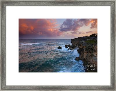 Makewehi Sunset Framed Print by Mike  Dawson