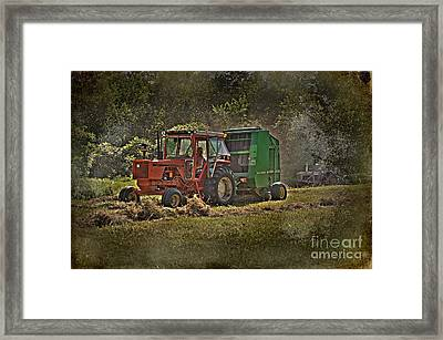 Makin' Hay While The Sun Shines Framed Print by The Stone Age