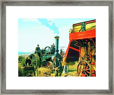 Making Hay Framed Print by Dominic Piperata