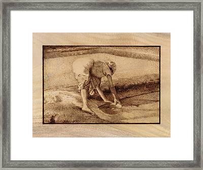 Making Salt Framed Print by Conrad  Pinto