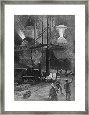 Making Steel With Bessemer Converters Framed Print by Everett