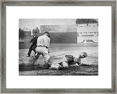 Making The Play C. 1920 Framed Print by Daniel Hagerman