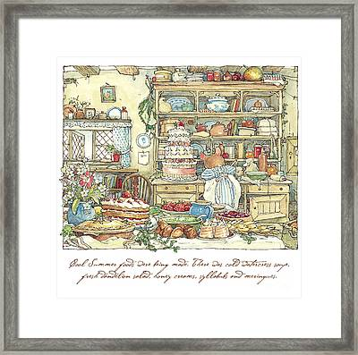 Making The Wedding Cake Framed Print by Brambly Hedge