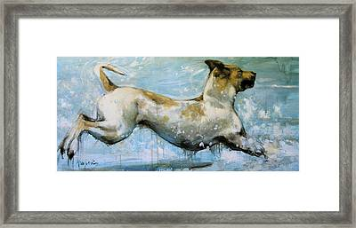 Making Waves Framed Print by Mary Leslie