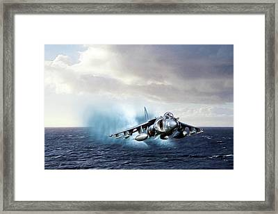 Making Waves Framed Print by Peter Chilelli