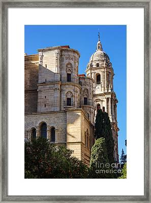 Malaga Cathedral Framed Print by Lutz Baar