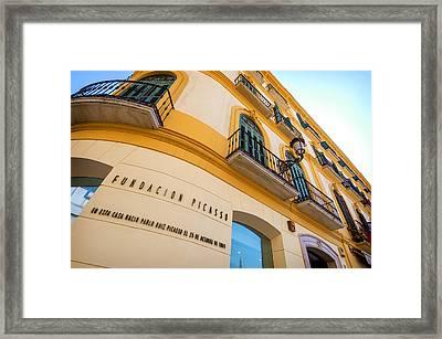 Malaga The Pablo Picasso Fundation Birthplace Museum Spain Framed Print by Eduardo Huelin