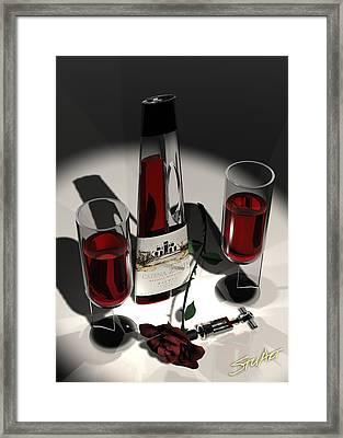 Malbec Wine - Romance Expectations Framed Print by Stuart Stone