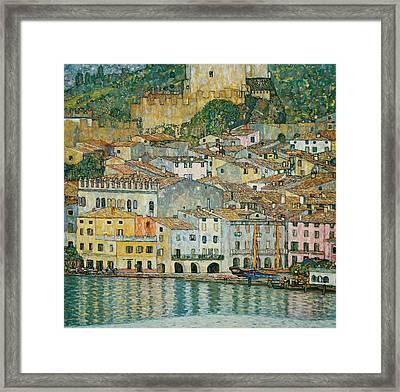 Malcesine  Lake Garda Framed Print by Gustav Klimt