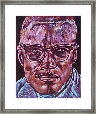 Malcolm Framed Print by Shahid Muqaddim