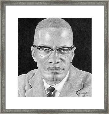 Malcolm X Framed Print by Curtis Maultsby