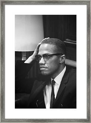 Malcolm X, Malcolm X Waits At Martin Framed Print by Everett