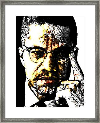 Malcolm X Framed Print by The DigArtisT