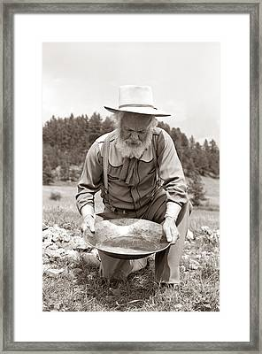 Male Prospector Panning For Gold Framed Print by H. Armstrong Roberts/ClassicStock