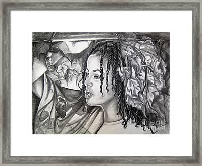 Malia Framed Print by Toni  Thorne