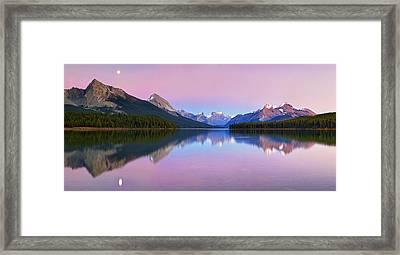 Maligne Lake Framed Print by Yan Zhang