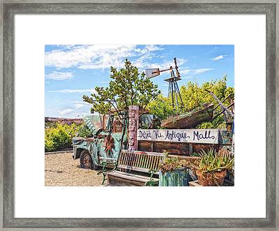 Mall Truck Framed Print by Caitlyn  Grasso