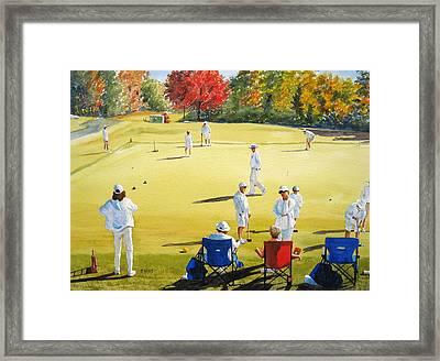 Mallet Masters Framed Print by Shirley Braithwaite Hunt