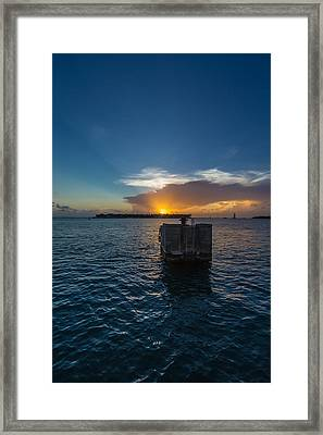 Mallory Square Sundown Framed Print by Dan Vidal