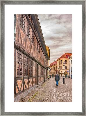 Malmo Narrow Street Painting Framed Print by Antony McAulay