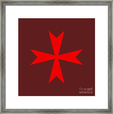 Maltese Cross Variant Framed Print by Frederick Holiday