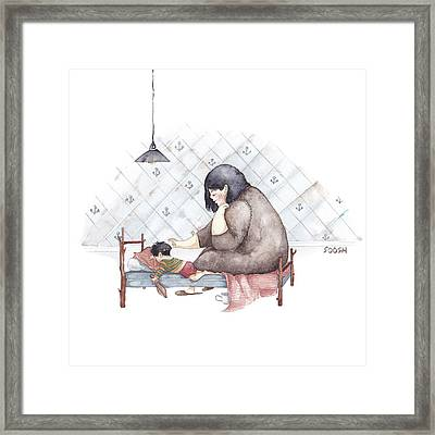 Mama Framed Print by Soosh
