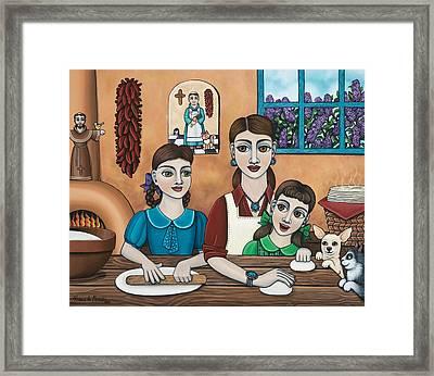 Mamacitas Tortillas Framed Print by Victoria De Almeida