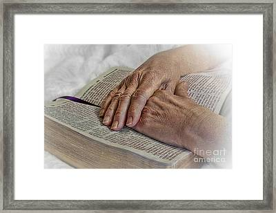 Mama's Hands Framed Print by Jak of Arts Photography