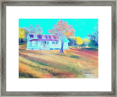 Mamas House In Arkansas Framed Print by Jo Anna McGinnis