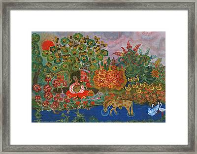 Mamay Cossack  Framed Print by Olena Kulyk