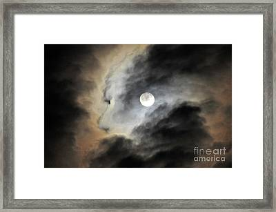Man And Moon Framed Print by Cindy Lee Longhini