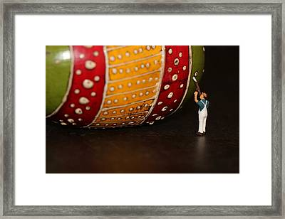 Man At Work Framed Print by Heike Hultsch