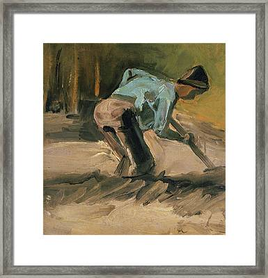 Man At Work Framed Print by Vincent Van Gogh