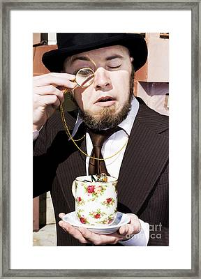 Man Dumbfounded By A Floating Fly Framed Print by Jorgo Photography - Wall Art Gallery