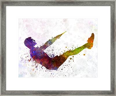 Man Exercising Workout Fitness  Framed Print by Pablo Romero