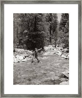 Man Fly Fishing Framed Print by Pound/ClassicStock