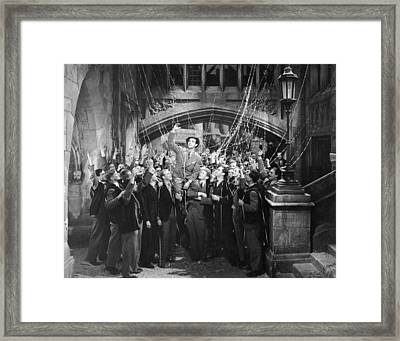 Man Gets Hero's Welcome Framed Print by Underwood Archives
