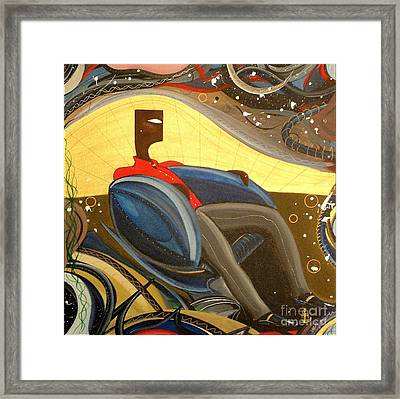 Man In Chair 2 Framed Print by John Lyes