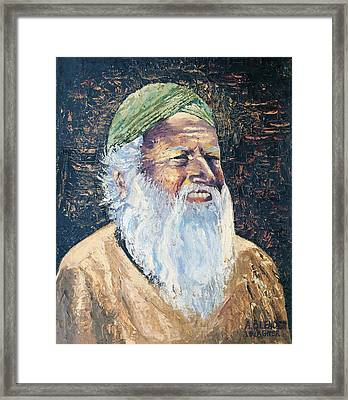 Man In The Green Turban Framed Print by Arline Wagner