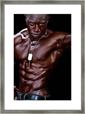 Man Made Of Dark Chocolate Framed Print by Val Black Russian Tourchin