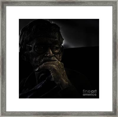 Man On Ferry Framed Print by Avalon Fine Art Photography